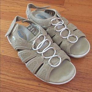Ryka Velcro supportive sandals sz 8 lightweight